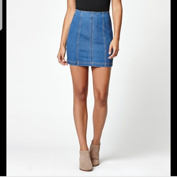 Kendall & Kylie Dresses & Skirts - Kendall & Kylie Paneled Denim Mini Skirt